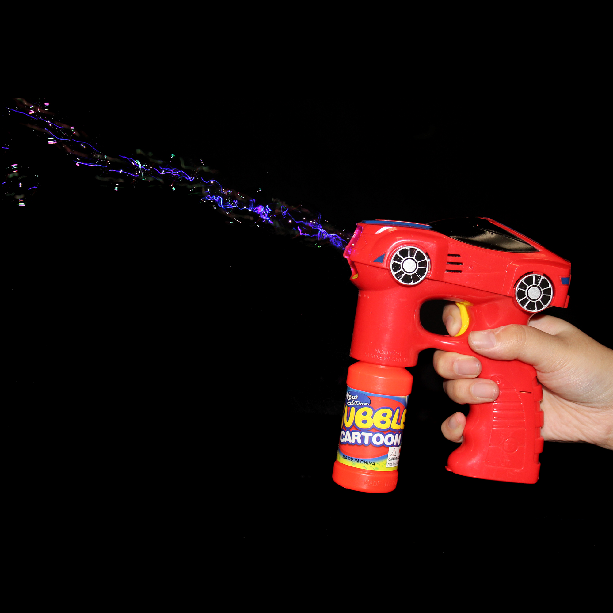 LED 7 Inch Bubble Gun - Car - Red